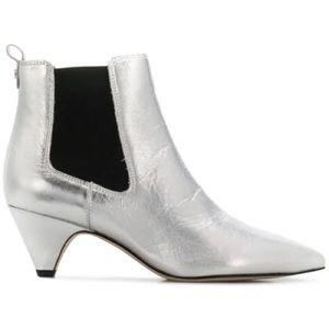 Sam Edelman Silver Ankle Boots 7